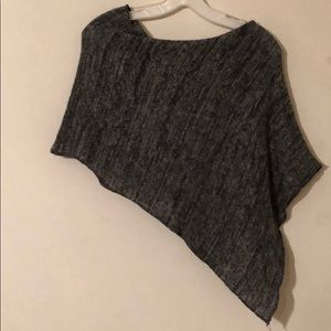 G.A.S. Sweaters - 🏡 MOVING SALE 🏡  Heathered Grey Sweater Poncho